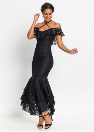 Cold-Shoulder-Spitzenkleid mit Volant, BODYFLIRT boutique