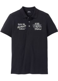 Poloshirt m. Ton-in-Ton Druck, bpc bonprix collection