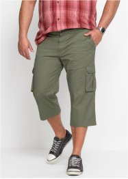 3/4-Stretch-Cargohose mit Dehnbund Regular Fit, bpc bonprix collection
