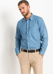 Langarm-Jeanshemd Slim Fit, RAINBOW