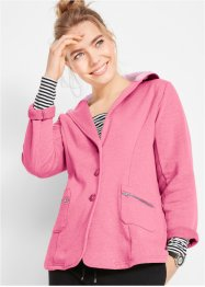Sweat-Blazer mit Kapuze, bpc bonprix collection