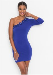 One-Shoulder-Kleid mit Blumenapplikationen, BODYFLIRT boutique