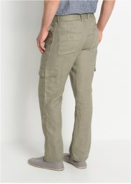 Leinen-Cargo-Hose mit Turn-Up Regular Fit, bpc bonprix collection