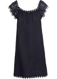 Kleid dunkelblau mit weiben punkten