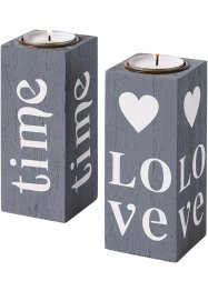 "Kerzenhalter ""Love"" (2tlg. Set), bpc living"