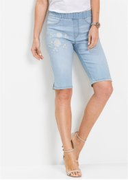 Jeans-Bermuda mit Stickerei, bpc selection