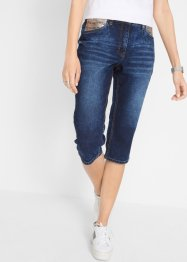 Stretch-Capri-Jeans mit Pailetten-Applikation, bpc bonprix collection