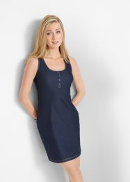 Stretch-Shirtkleid in Jeansoptik, John Baner JEANSWEAR