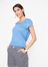 Leinen-Shirt mit Ausschnittdetail, bpc bonprix collection