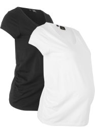 Basic Umstandsshirts, 2er-Pack, bpc bonprix collection