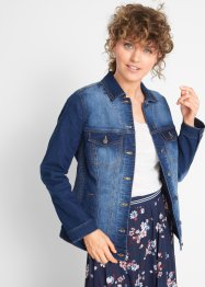 Jeansjacke mit seitlichem Smokeinsatz, bpc bonprix collection