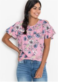Cold-Shoulder-Bluse mit Volants, BODYFLIRT