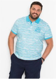 Poloshirt geringelt mit Druck, bpc bonprix collection