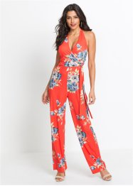 Neckholder-Jumpsuit mit Alloverprint, BODYFLIRT boutique
