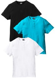 Henleyshirt 3er Pack, bpc bonprix collection