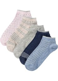Kurzsocken mit Glitzermuster (5er-Pack), bpc bonprix collection