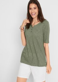 Shirt mit Knopfleiste, Halbarm, bpc bonprix collection