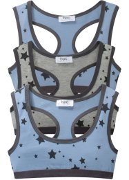 Bustier (3er-Pack) Bio-Baumwolle, bpc bonprix collection