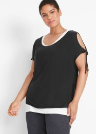 2 in 1 Sport-Shirt, kurzarm, bpc bonprix collection