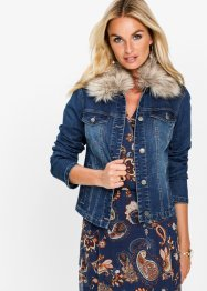 Jeansjacke mit Fellimitatkragen, bpc selection