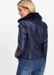 Lederimitat-Jacke mit Fellimitatkragen, bpc selection
