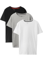 Jungen Basic T-Shirt aus  Bio-Baumwolle (3er-Pack), bpc bonprix collection