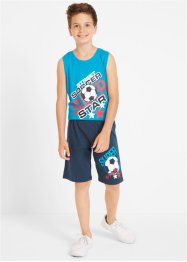 Jungen T-Shirt + Tanktop + Bermudas (4-tlg. Set), bpc bonprix collection