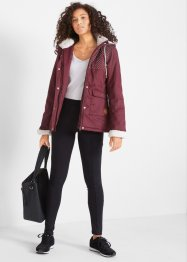 Jacke mit Teddyfleece Kapuze, bpc bonprix collection