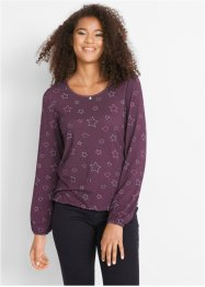 Langarmshirt mit Allover Druck, bpc bonprix collection