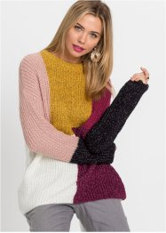 Pullover in Patchworkoptik, RAINBOW
