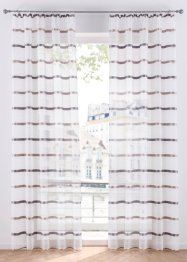 Transparente Gardine mit Querstreifen (1er Pack), bpc living bonprix collection