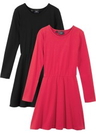 Mädchen Jerseykleid langarm (2er-Pack), bpc bonprix collection