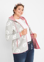 Fleecejacke mit Brezelmuster, bpc bonprix collection
