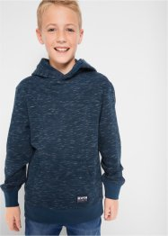 Jungen Kapuzensweatshirt, meliert, bpc bonprix collection