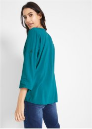 Viskose-Longbluse, 3/4-Arm mit Turn-Up-Funktion, bpc bonprix collection