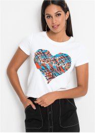 T-Shirt mit Metallicdruck, BODYFLIRT