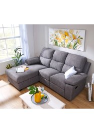 Ecksofa links mit Bettkasten und Strukturstoff, bpc living bonprix collection