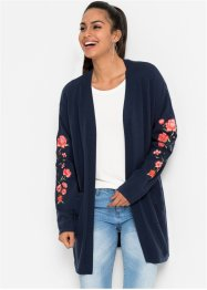 Longstrickjacke mit Stickerei, BODYFLIRT