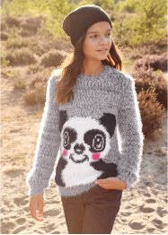 Flauschiger Strickpullover, bpc bonprix collection