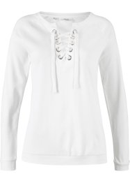 Langarmshirt mit Bindeband, bpc bonprix collection