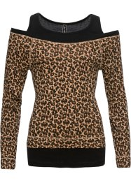 2-in-1-Shirt mit Animal-Print, RAINBOW