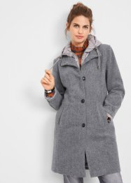 Winter-Kurzmantel mit Wolle, 2in1 Optik, John Baner JEANSWEAR