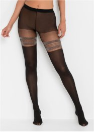 Overknee Strumpfhose mit Glitzerstreifen 50den, bpc bonprix collection