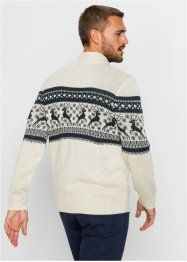 Norweger-Pullover mit Troyerkragen, bpc bonprix collection