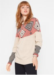 Pullover mit Norweger Muster, bpc bonprix collection