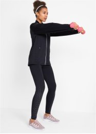 Sport-Thermo-Leggings mit reflektierendem Druck, Level 2, bpc bonprix collection
