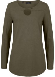 Viskose Langarmshirt mit Drappierung, bpc bonprix collection