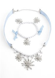 Set Collier & Armband Karo + Perle, bpc bonprix collection