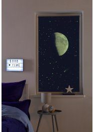 Verdunkelungsrollo mit Mond und Leuchteffekt, bpc living bonprix collection
