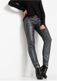 Skinny Jeans in Schlangen Optik, RAINBOW